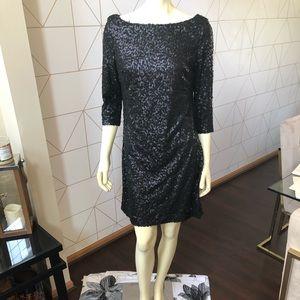 JESSICA SIMPSON BLACK SEQUINED DRESS